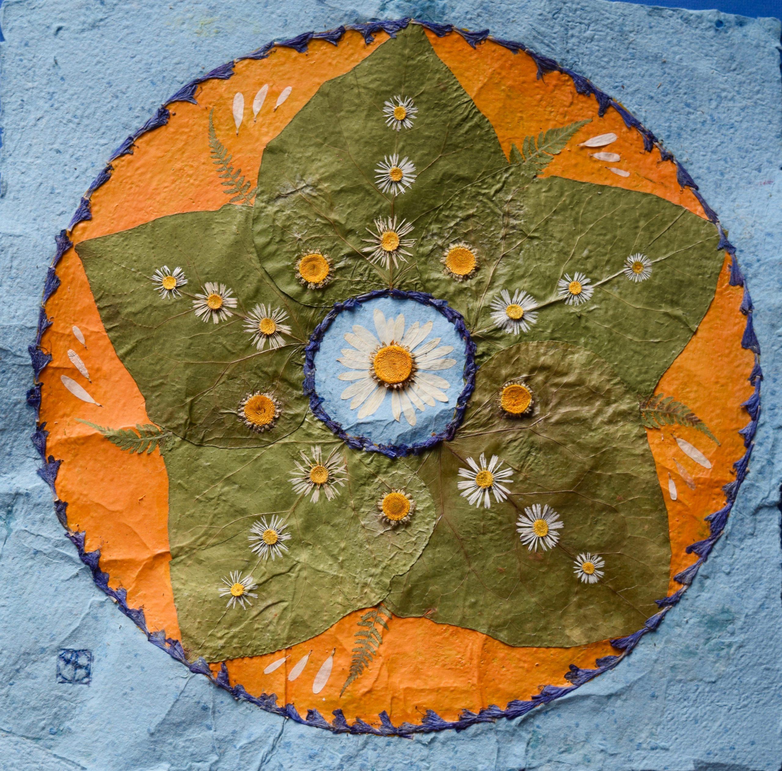 mandala-création végétal-