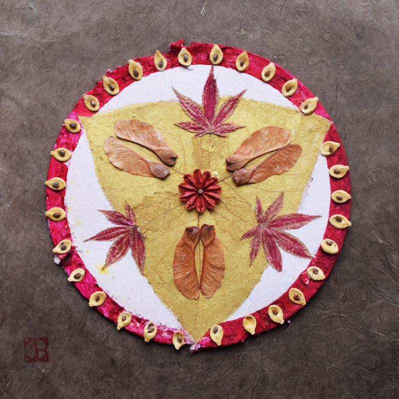 mandala -chakra racine-création végétale